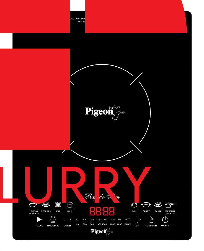 Pigeon Rapido Slim 2100-Watt Induction Cooktop - Best Induction Cooktop in India